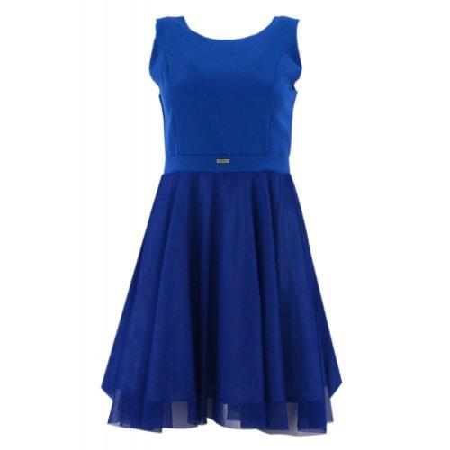 Sklep internetowy z odzieżą damską Sukienka rozkloszowana tiulowa (chabrowa)