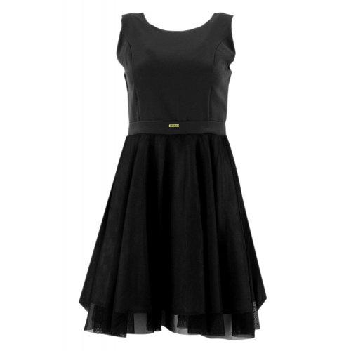 Sukienka rozkloszowana tiulowa (czarna)