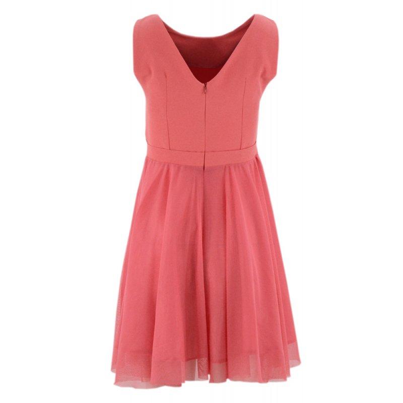 Sukienka rozkloszowana tiulowa (malinowa)