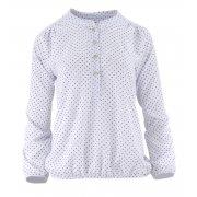 Elegancka bluzka damska w kropeczki (biała)