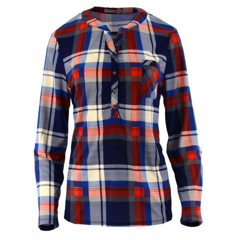 522b6e94674ef6 Koszula damska w kratę z miękkiej bawełny (kolor2) | eStilex.pl ...