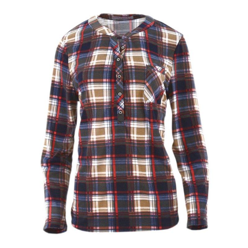 Koszula damska w kratę z miękkiej bawełny (kolor3)