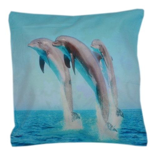Poszewka na jaśka 45x45 WZ. 5 Delfiny Ocean