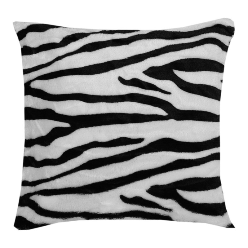 Poszewka na poduszkę z mikrofibry 40x40 WZ. 1 Zebra