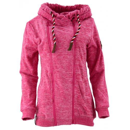 Bluza polarowa długa z zamkiem na boku (różowa)