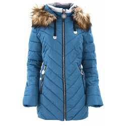 Płaszcz damski DUŻY ROZMIAR (niebieska)