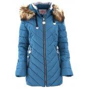 Płaszcz zimowy damski DUŻY ROZMIAR (niebieska)