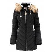 Płaszcz zimowy damski DUŻY ROZMIAR (czarna)