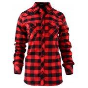 Damska koszula w czerwono-czarną kratkę 42-50