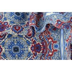 Bluzka hiszpanka orientalny wzór szafir i bordo