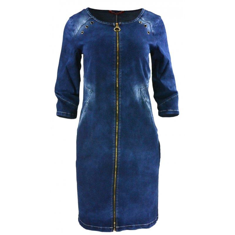 Sukienka jeansowa DENIM z długim zamkiem