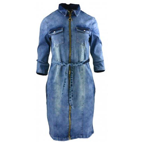 Sukienka jeansowa DENIM pensjonarka