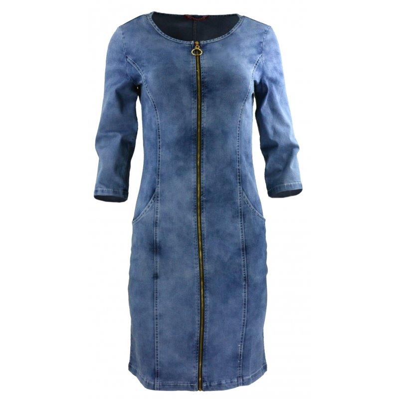 fde808d19e Jeansowa sukienka ołówkowa rozsuwana na zamek
