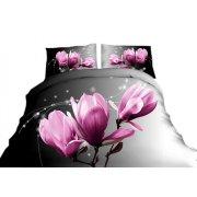 Pościel 3D w kwiaty 160x200 WZ .2