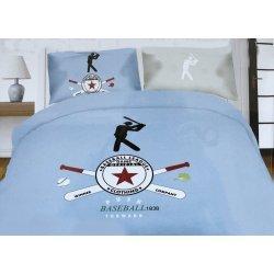Pościel młodzieżowa 160x200 WZ. 8 baseball niebieski