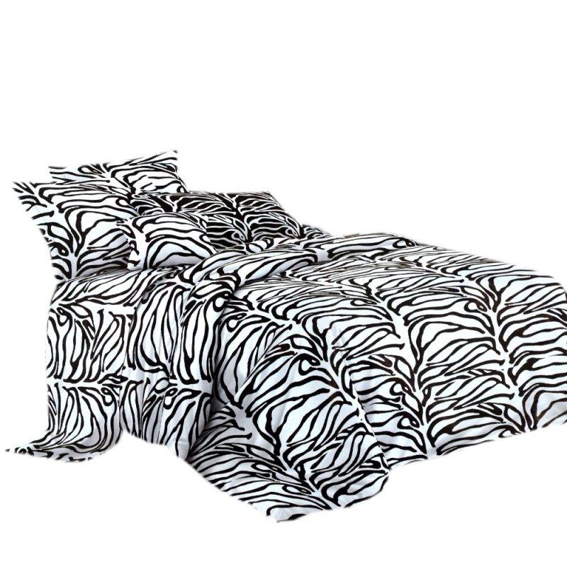 Wzór zwierzęcy biało czarna pościel 3D