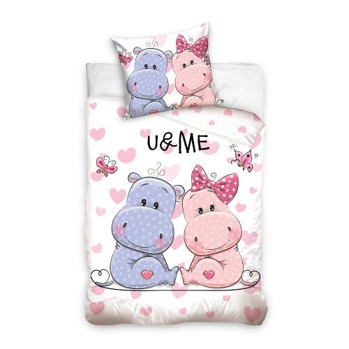 Pościel Carbotex Renforce 140x200 Hipopotamy UANDME161003-P pokój dziecięcy
