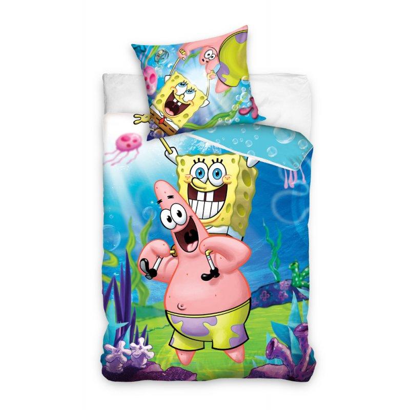 Pościel bajkowa dla dzieci 160x200 SpongeBob na barana SBOB163005