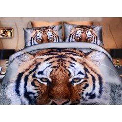 Pościel 3D ZWIERZĘTA 160x200 WZ. 4 Głowa tygrysa