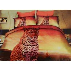 Pościel 3D ZWIERZĘTA 160x200 WZ. 6 Gepard zachód słońca
