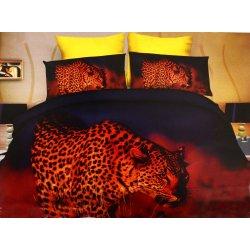 Pościel 3D ZWIERZĘTA 160x200 WZ. 8 Czerwony gepard