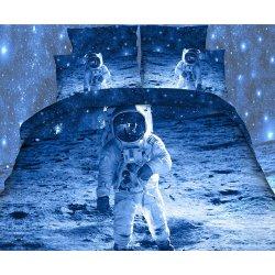 Pościel 3D KOSMOS 160x200 WZ. 1 Kosmonauta na Księżycu