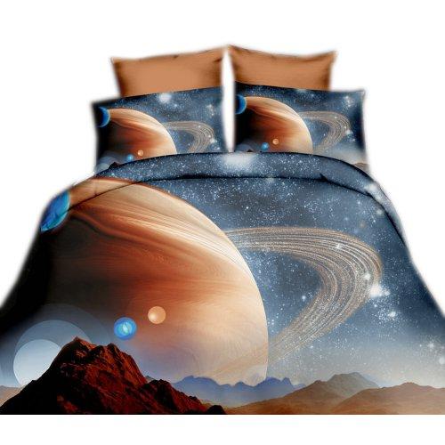 Pościel 3D KOSMOS 160x200 WZ. 2 Planeta Saturn
