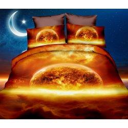 Pościel 3D KOSMOS 160x200 WZ. 3 Planeta Słońce