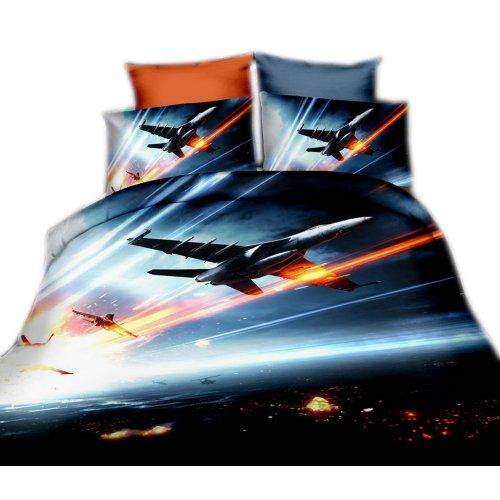 Pościel 3D KOSMOS 160x200 WZ. 4 Kosmiczna walka samolot odrzutowiec
