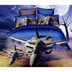 Pościel 3D KOSMOS 160x200 WZ. 7 Samoloty bojowe Odrzutowce