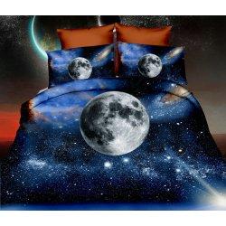 Pościel 3D KOSMOS 160x200 WZ. 8 Księżyc w pełni