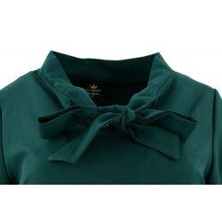 Sukienka w kształcie litery A (butelkowa zieleń)