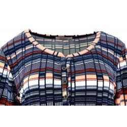 Bluzka damska w kolorowe paski (jasnoczerwona)