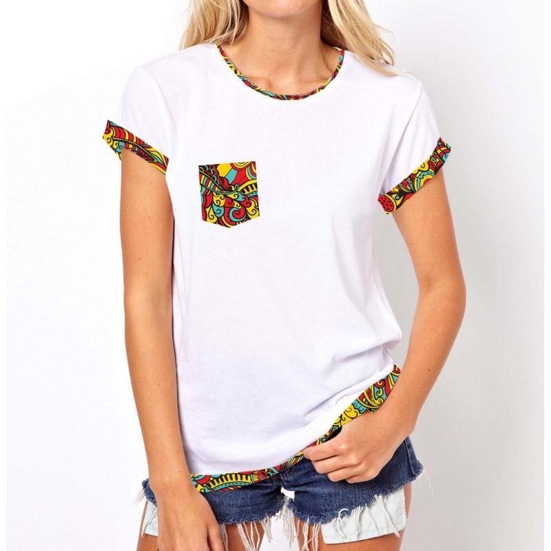Koszulka z kieszonką (biała)