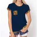 Koszulka z kieszonką (granatowa)