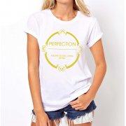 Koszulka z napisem PERFECTION (biała)