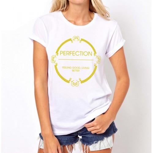 Koszulka z napisem PERFECTION