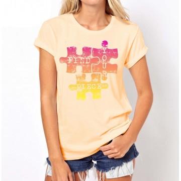 Koszulka PUZZLE (żółta)