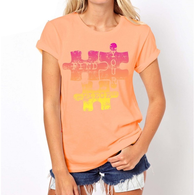 Koszulka PUZZLE (brzoskwiniowa)