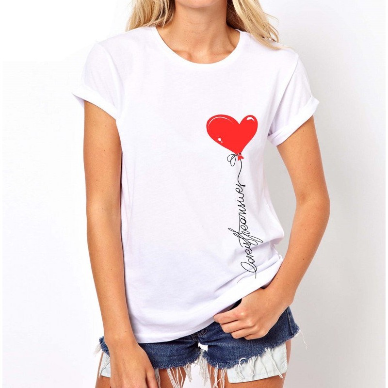 Koszulka z sercem (biała)