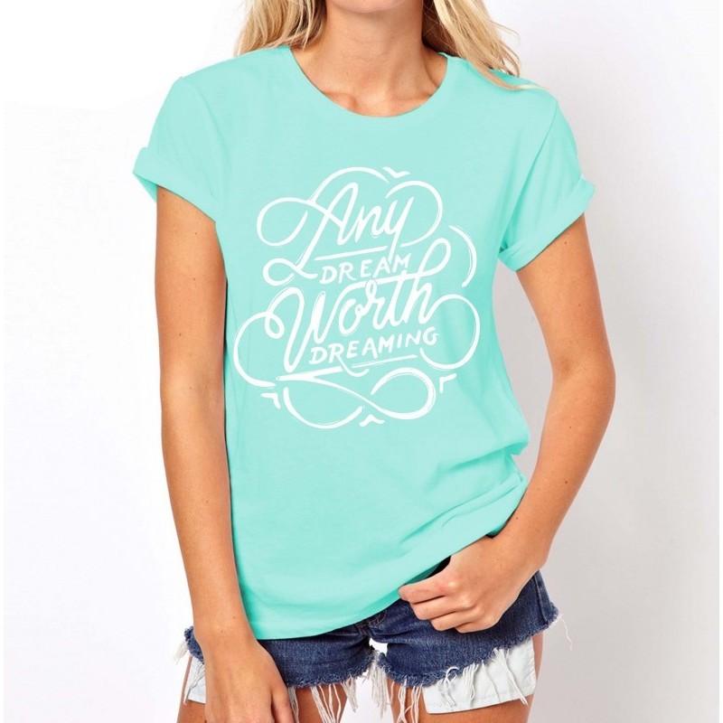 Koszulka damska z napisami (pistacjowa) t-shirt