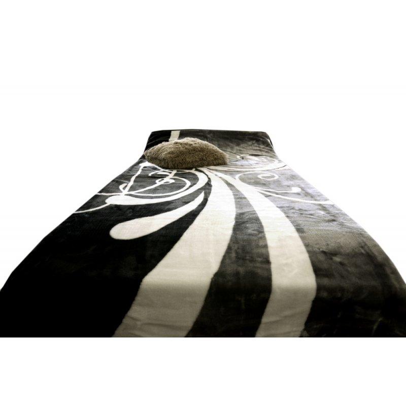 Koc Akrylowy Narzuta ELWAY 160x210 Wzór 337-2 Nutka Koc na Łóżko 160x200 Koc 160x210 Koc na Prezent Ślubny