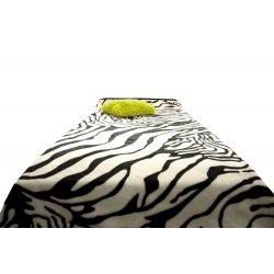 Koc Akrylowy Narzuta ELWAY 160x210 Wzór 523 Zebra motyw zwierzęcy