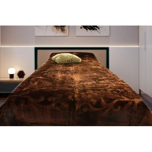 Koc Akrylowy Tłoczony Narzuta ELWAY 160x210 Kolor 12 wytłaczany brązowy czekoladowy