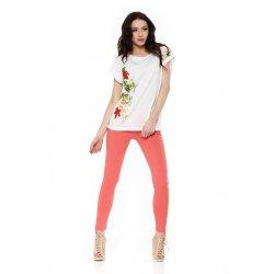 T-Shirt damski z nadrukiem BD1100.305 (biały) bluzka damska duży rozmiar