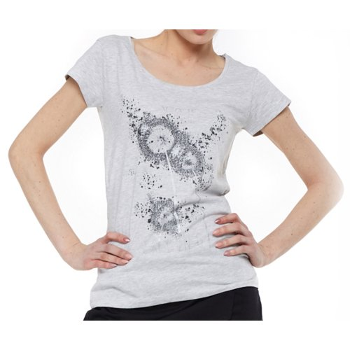 T-Shirt damski z nadrukiem BD900-453 (szary) koszulka damska bluzka damska szara bluzka