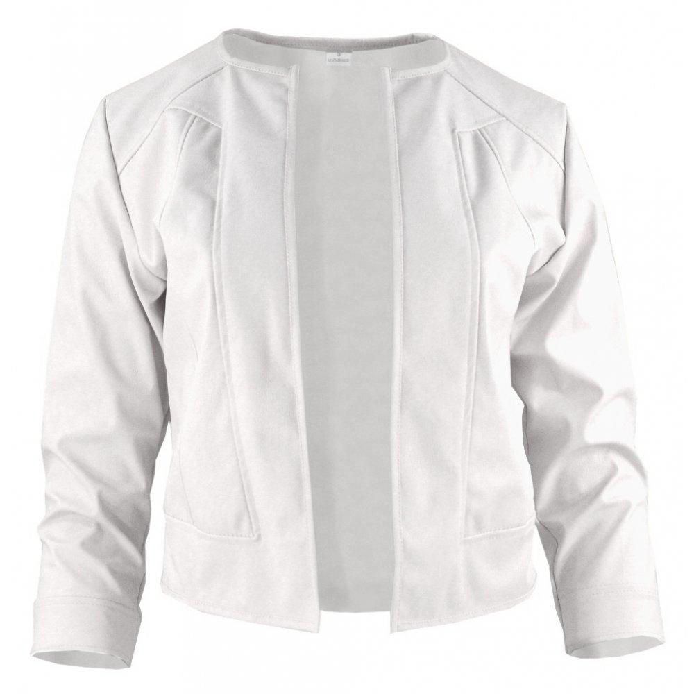 7ab7bec1e7cc2 Biały żakiet z ekoskóry do sukienki   eStilex.pl   Modna i tania ...