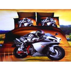 Pościel 3D MOTORY 160x200 WZ. 2