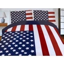 Pościel młodzieżowa 160x200 WZ. 14 flaga Ameryki USA
