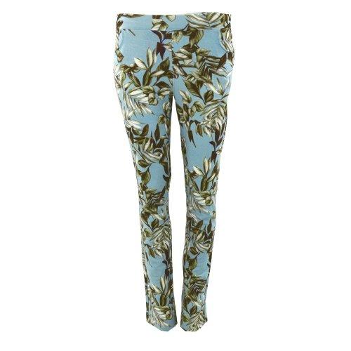 Spodnie dresowe w listki (niebieskie)